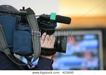 Cameraman And Newscast