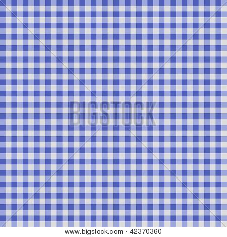 Seamless Checkered Gingham Pattern - Blue And White