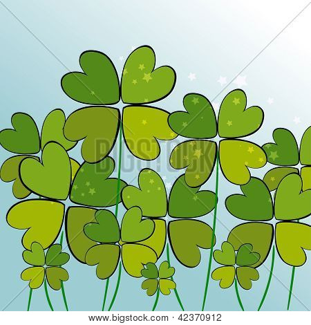 Green Transparency Clovers