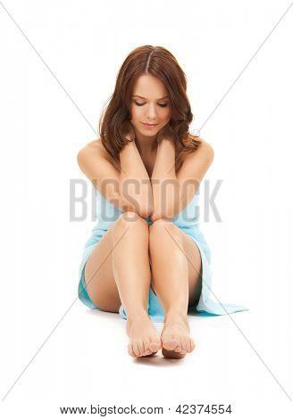 helles Bild der schönen Frau Handtuch