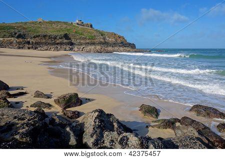 St. Ives Porthgwidden Beach, Cornwall England.