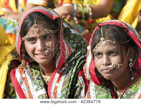 Indian Girls In Colorful Ethnic Attire