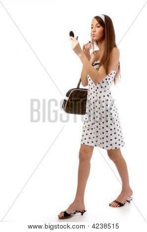 Model In Retro Clothes