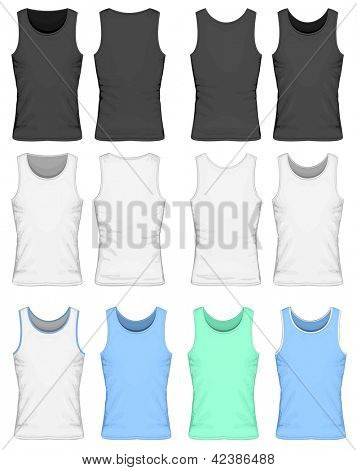 Vector illustration of singlet (front and back view). Color variants.