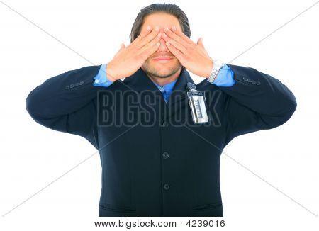 Blinded Businessman