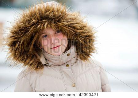 Beautiful snow girl
