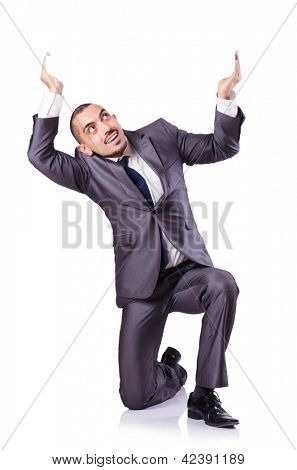 Young Businessman in conceptual photo