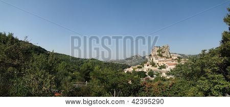 Small French Hillside Village Of   Le Roque Alric, France