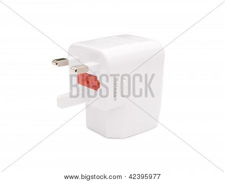 Front View Of A Universal Adapter With Clipping Path