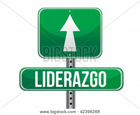 Leadership Green Sign In Spanish