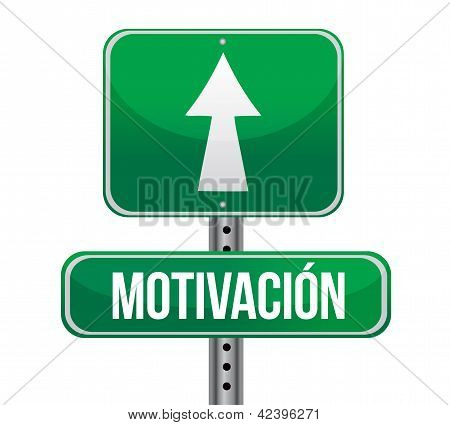 Motivation Green Sign In Spanish