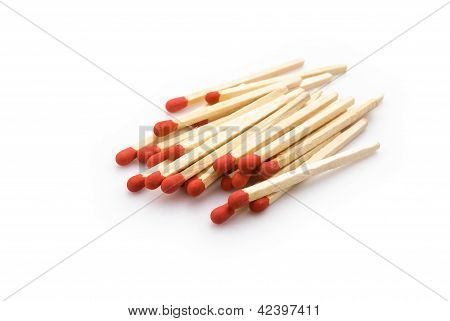 Matchsticks Stack Up On White