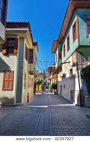 Old Town Kaleici In Antalya Turkey