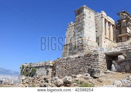 West Side Of Athens Acropolis Propylaea