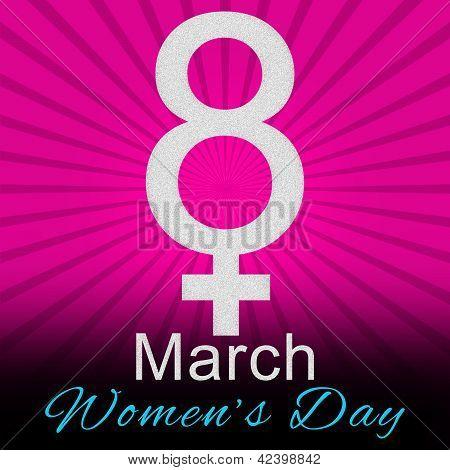 8 March -  Pink Burst Background