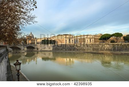 Embankment Of The River Tiber, Rome