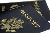 stock photo of passport cover  - United States passport front cover concept of traveling