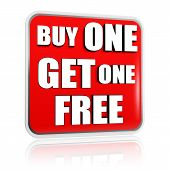 picture of free-trade  - buy one get one free button  - JPG