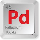 stock photo of palladium  - palladium element - JPG