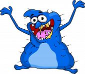 stock photo of ogre  - Vector illustration of ugly monster cartoon isolated on white - JPG