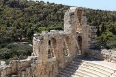 View Of Ancient Odeon Of Herodes Atticus
