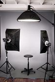 Photography Studio Lighting Background Setup Grey