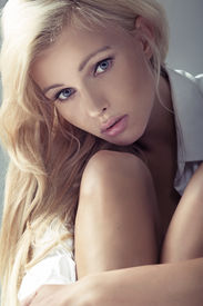 stock photo of posh  - Portrait of a pretty young lady - JPG