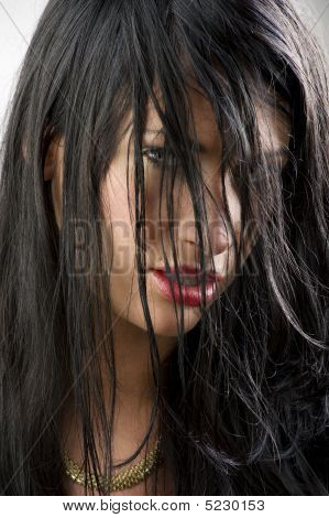 Red Lips Black Hair