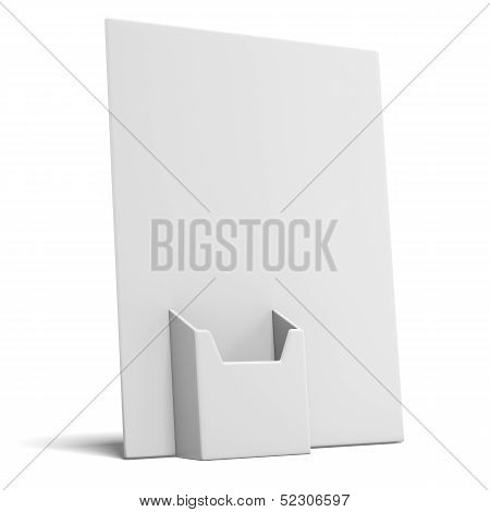 empty box holder for leaflets
