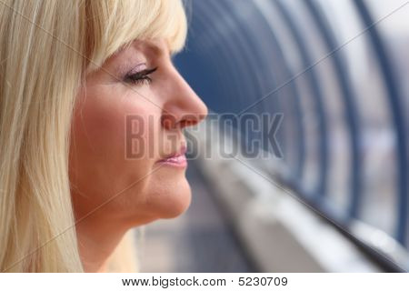 Profile Of Middleaged Woman