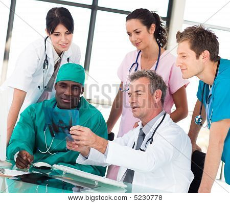Medical Team Discussing In An Office