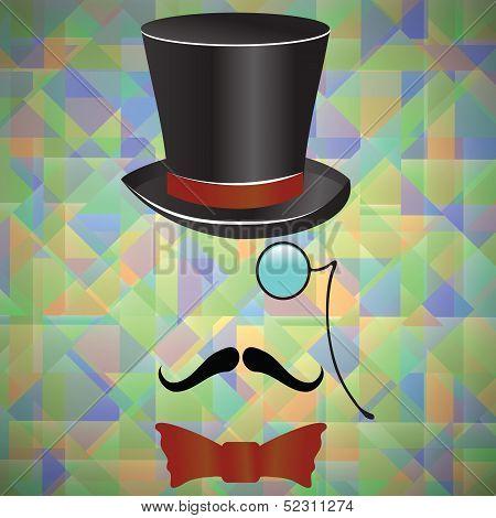 Mustaches And  Retro Accessories