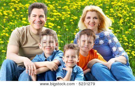Familia feliz.