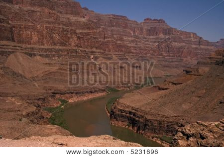 Red Rocks And River In Grand Canyon