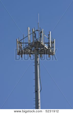 Satellite Tower On Blue