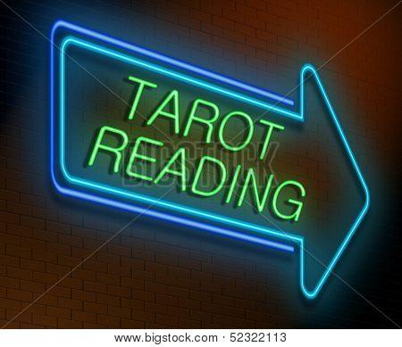 Tarot Reading Concept.