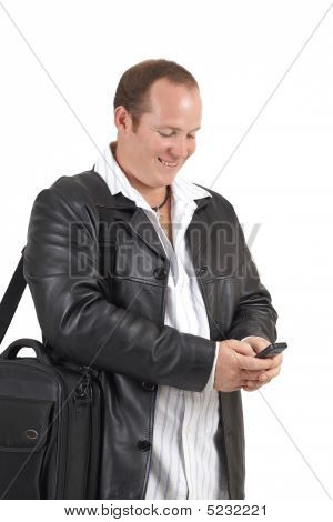 Businessman Holding A Cellphone