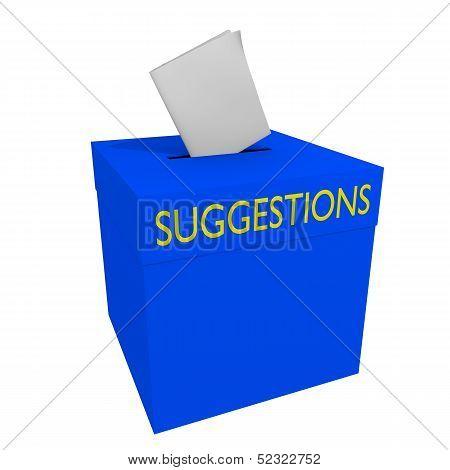 Suggestions box