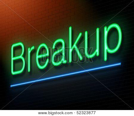 Breakup Concept.