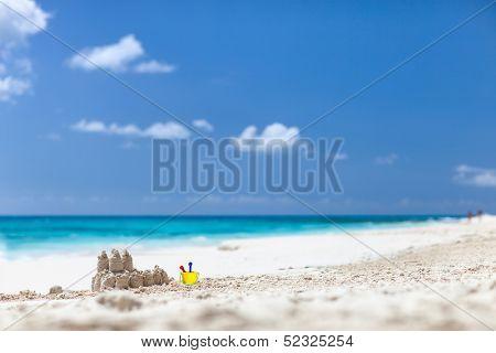 Caribbean beach and sea on Anguilla