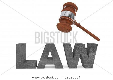 Judicial Gavel And Law Sign