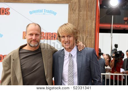 LOS ANGELES - OCT 13:  Woody Harrelson, Owen Wilson at the