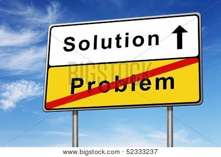 Solution Road Sign Concept