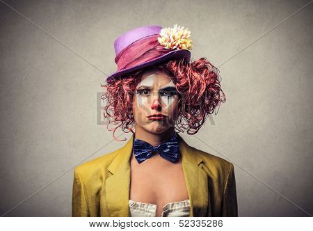 beautiful whimsical clown