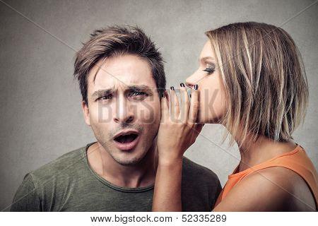 speak in the ear