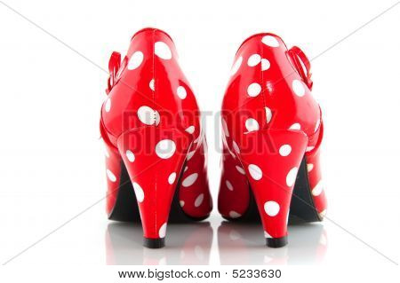 Red Spotted Shoes