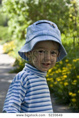 Half-length Portrait Of Smiling Little Boy