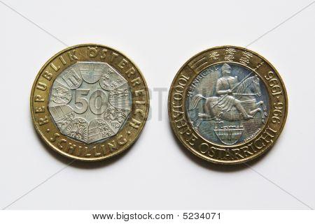 Austrian 50 Schilling Coins