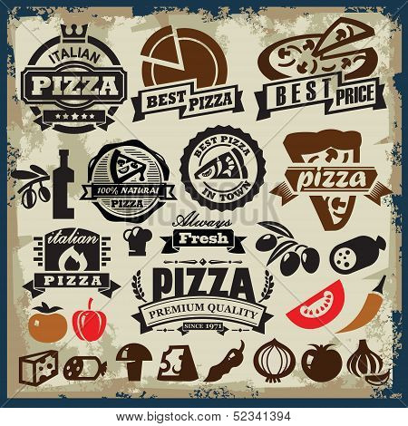 pizza sign set