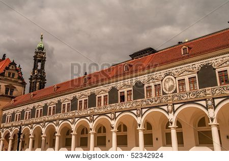 The Yard Of The Castle In Dresden, Germany